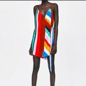 Zara Multi_Colored Striped Romper